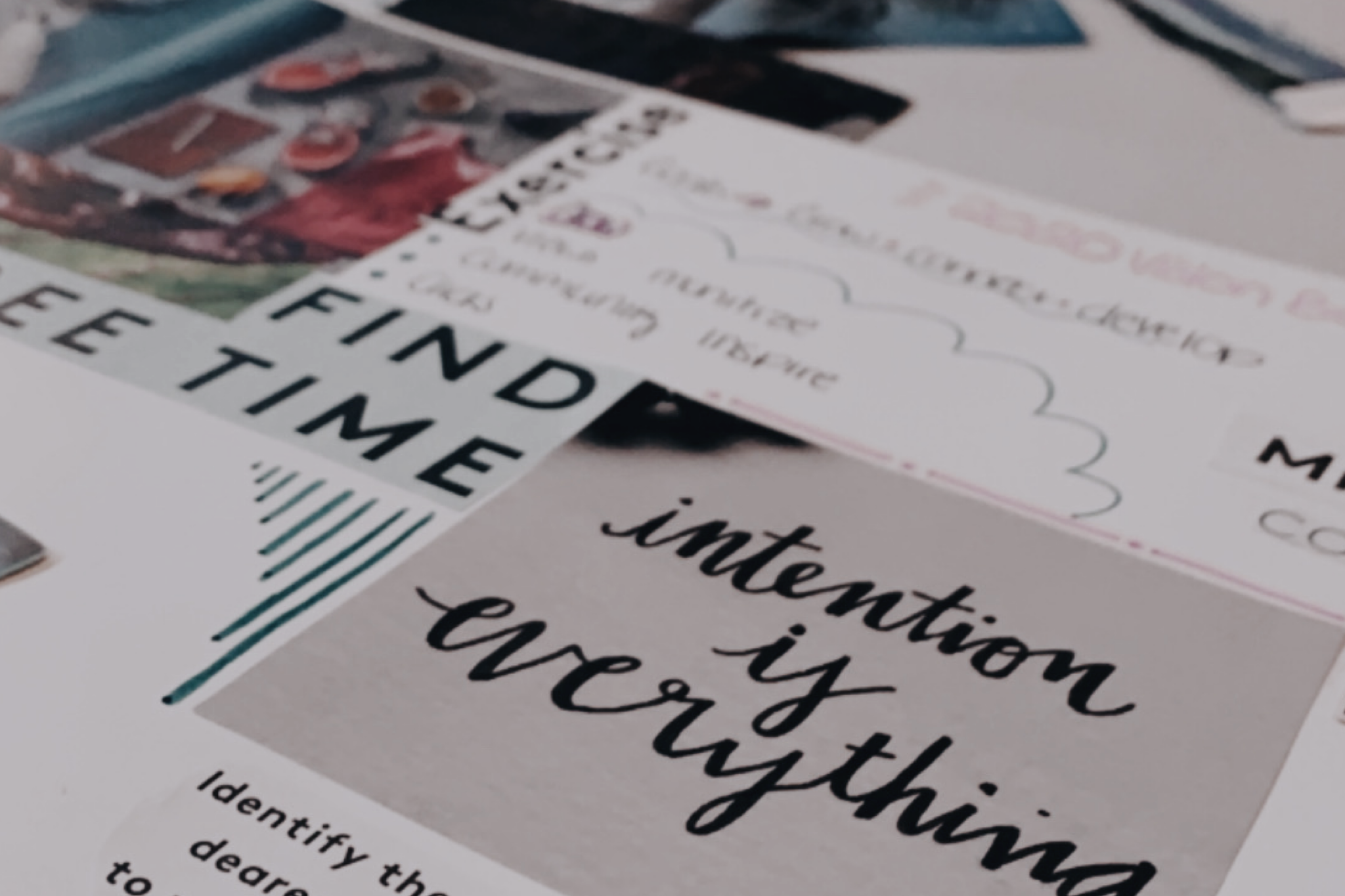 vision board collage design 2020 from the blog 5 habits for mental wellness