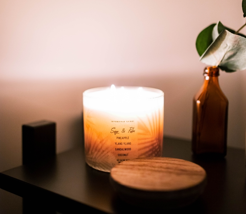 photo of a candle for blog post by Nicole Eva