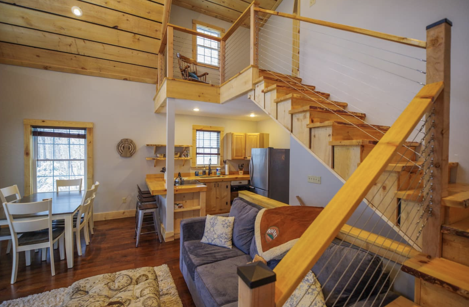 New Cabin, Hot Tub, Wooded, River, Fire Place 8 Airbnb locations I would visit right now by Nicole Eva
